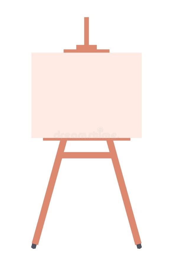 Helder Canvas op Houten die Tribune op Wit wordt geïsoleerd royalty-vrije illustratie