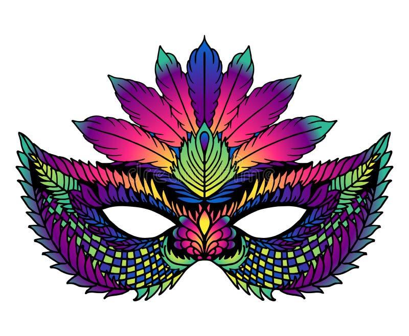 Helder Carnaval-masker Perfectioneer voor Carnaval-vieringen royalty-vrije illustratie