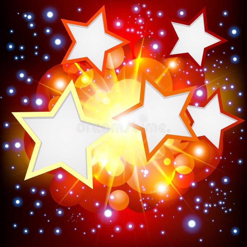 Helder de Achtergrond van de Explosie met vele sterren. vector illustratie