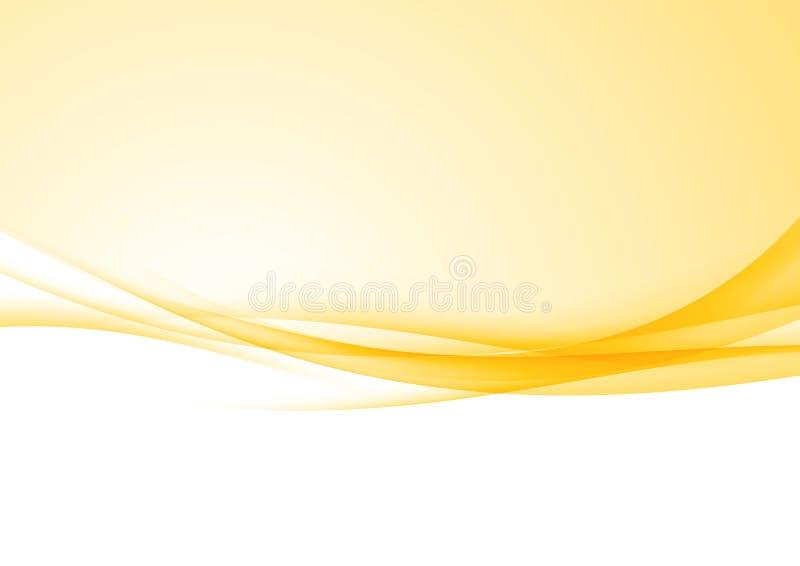 Helder de grenscertificaat van snelheids abstract oranje swoosh stock illustratie