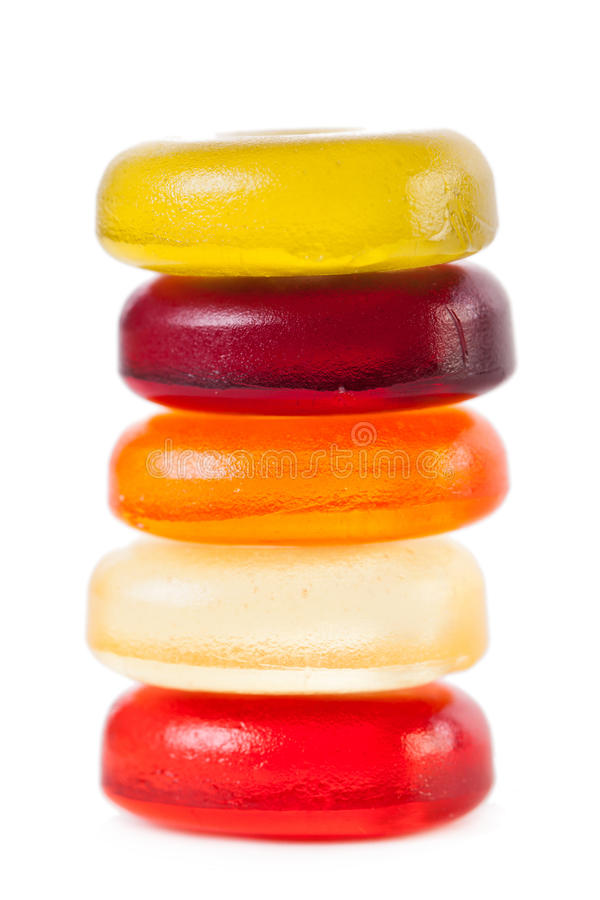 Helder die suikergoed op een witte achtergrond wordt geïsoleerd royalty-vrije stock foto