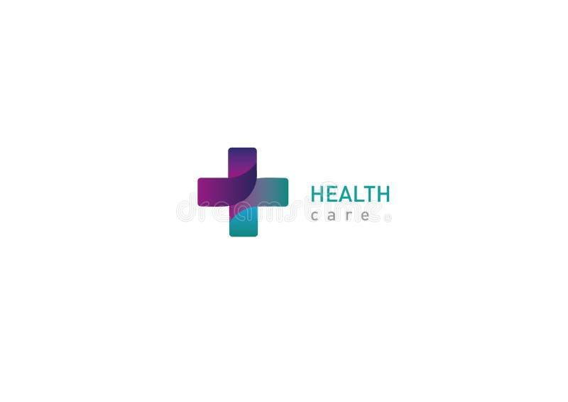 Helder embleem op geneeskunde en gezondheid royalty-vrije illustratie