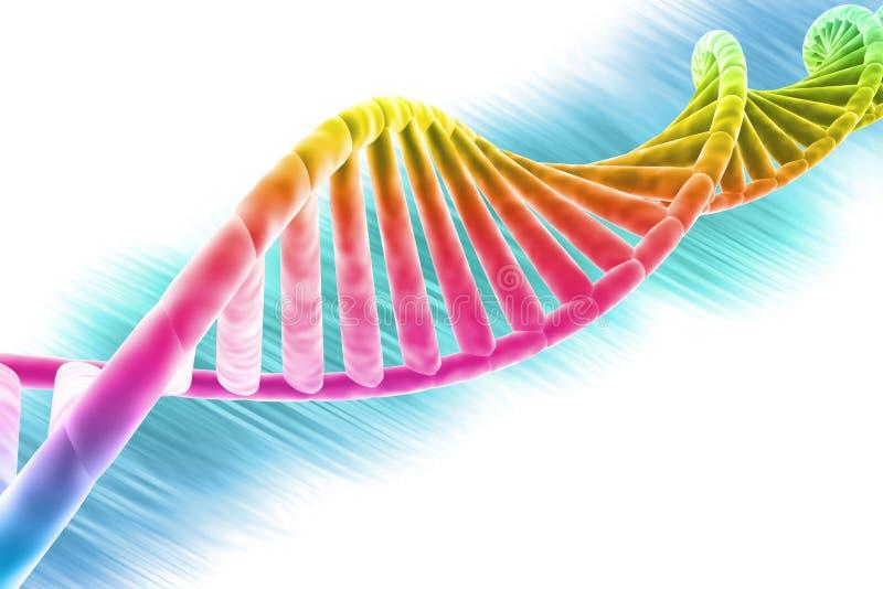 Helder en de kleurrijke bundel van DNA stock illustratie