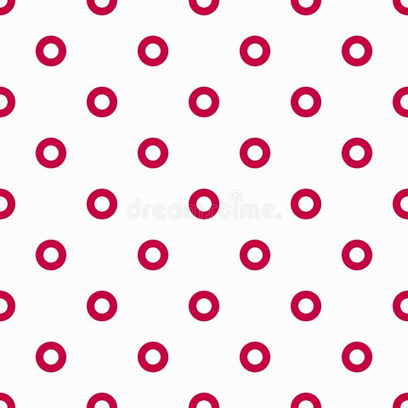 Helder gekleurd cirkels naadloos geometrisch patroon voor uw ontwerp stock illustratie