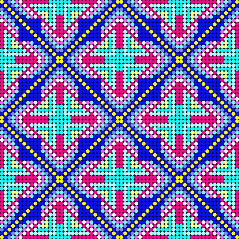 Helder gekleurd klein gekleurd ballen naadloos patroon vector illustratie
