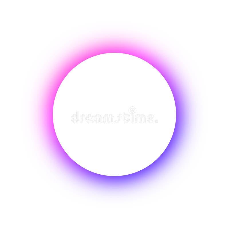 Helder gekleurd patroon om het gloeien verschillende kleuren van de neonknopen, de ruimte voor de tekst Malplaatjeontwerp voor re vector illustratie