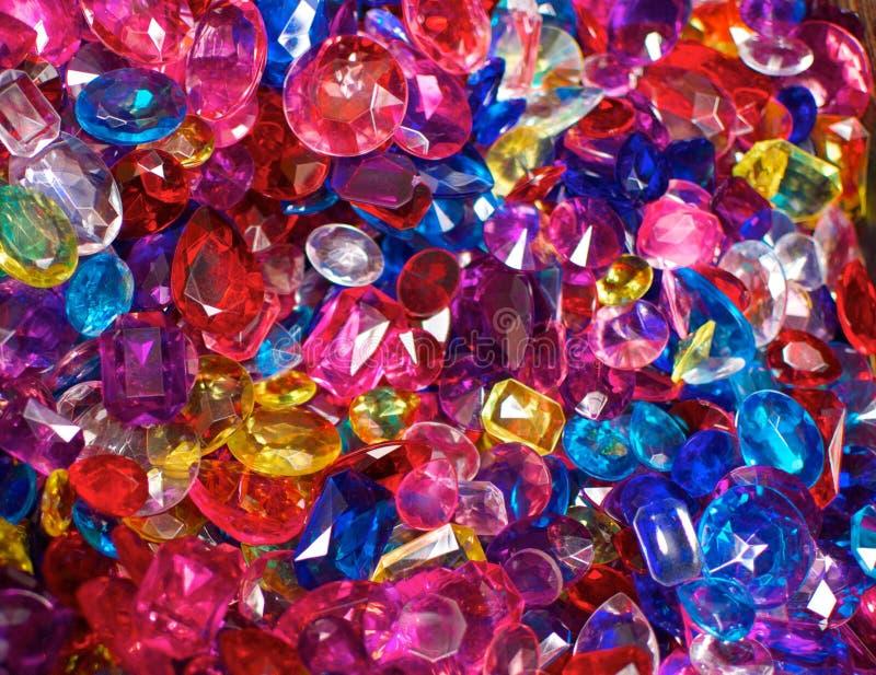 Helder Gekleurde Plastic Juwelen stock fotografie
