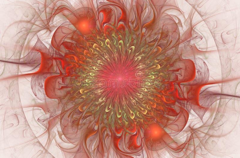 Helder glanzend en Exotisch bloemenpatroon Mooie Abstracte Bloem stock illustratie