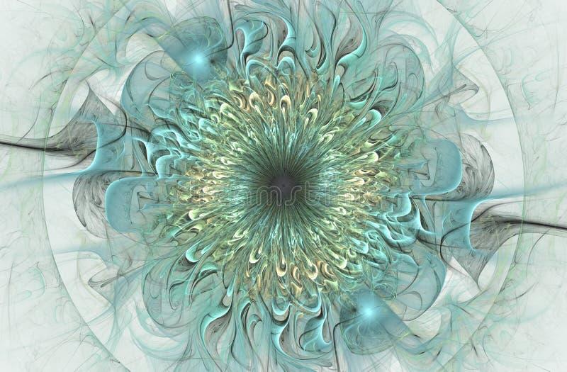 Helder glanzend en Exotisch bloemenpatroon Mooie Abstracte Bloem royalty-vrije illustratie