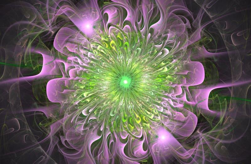 Helder glanzend en Exotisch bloemenpatroon Mooie Abstracte Bloem vector illustratie