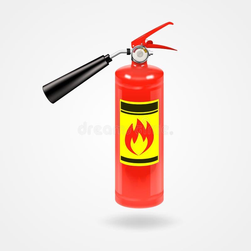 Helder glanzend rood brandblusapparaat vector illustratie
