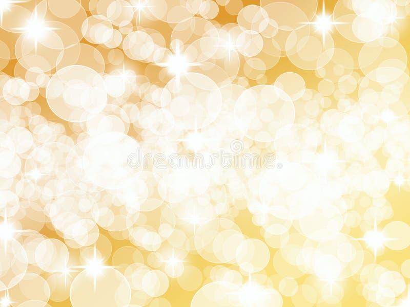 Helder Gouden Zilveren Dot Background vector illustratie