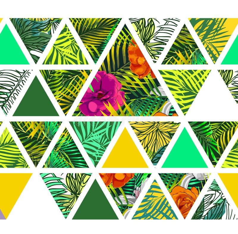 Helder Hawaiiaans patroon vector illustratie