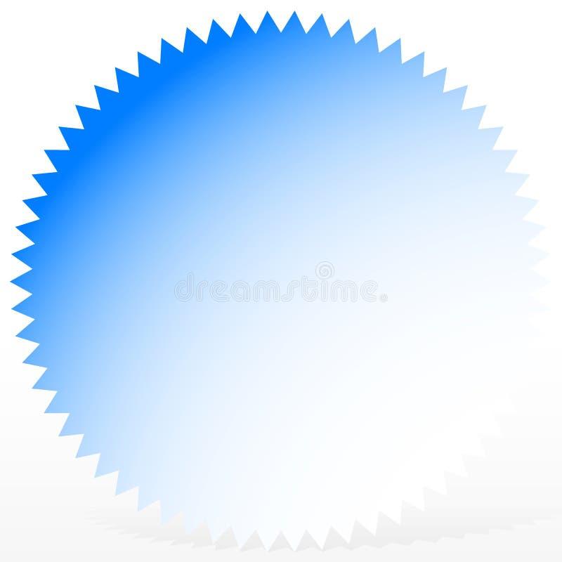 Helder kenteken, starburst vorm met slechts 1 kleur stock illustratie