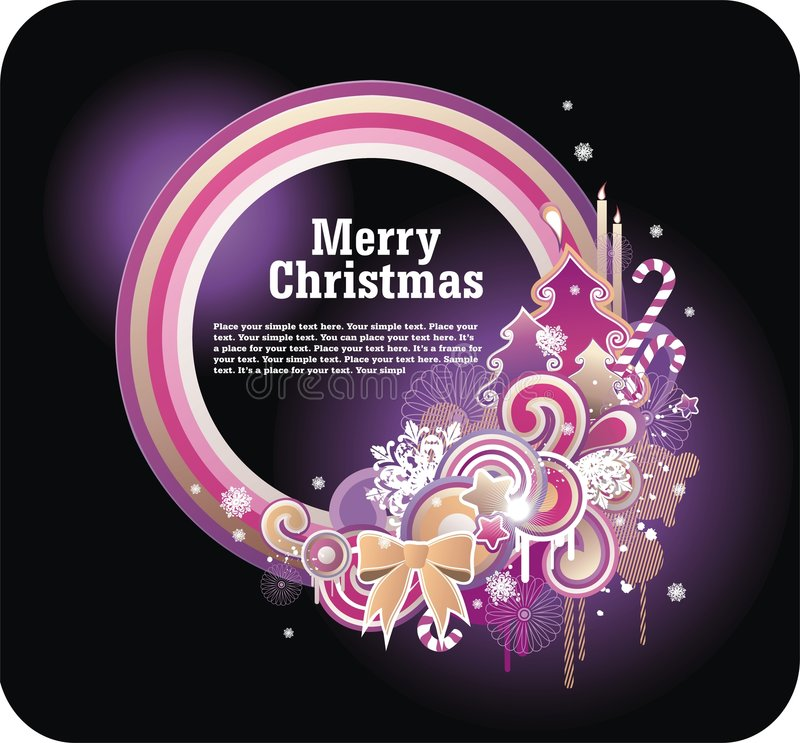 helder Kerstmisframe stock illustratie