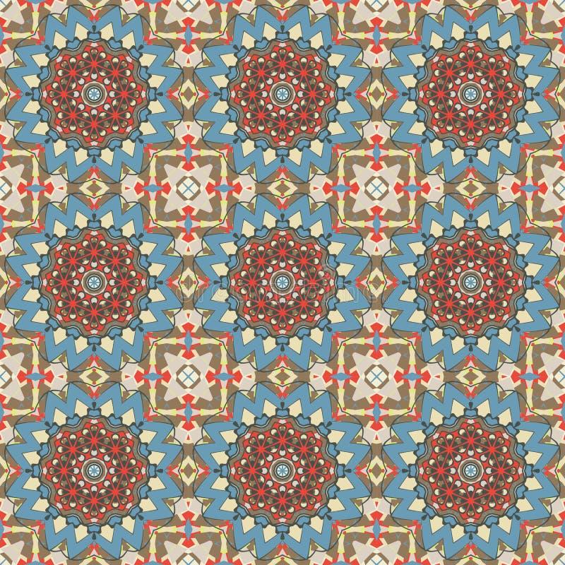 Helder kleuren abstract geometrisch patroon, naadloze vector stock illustratie