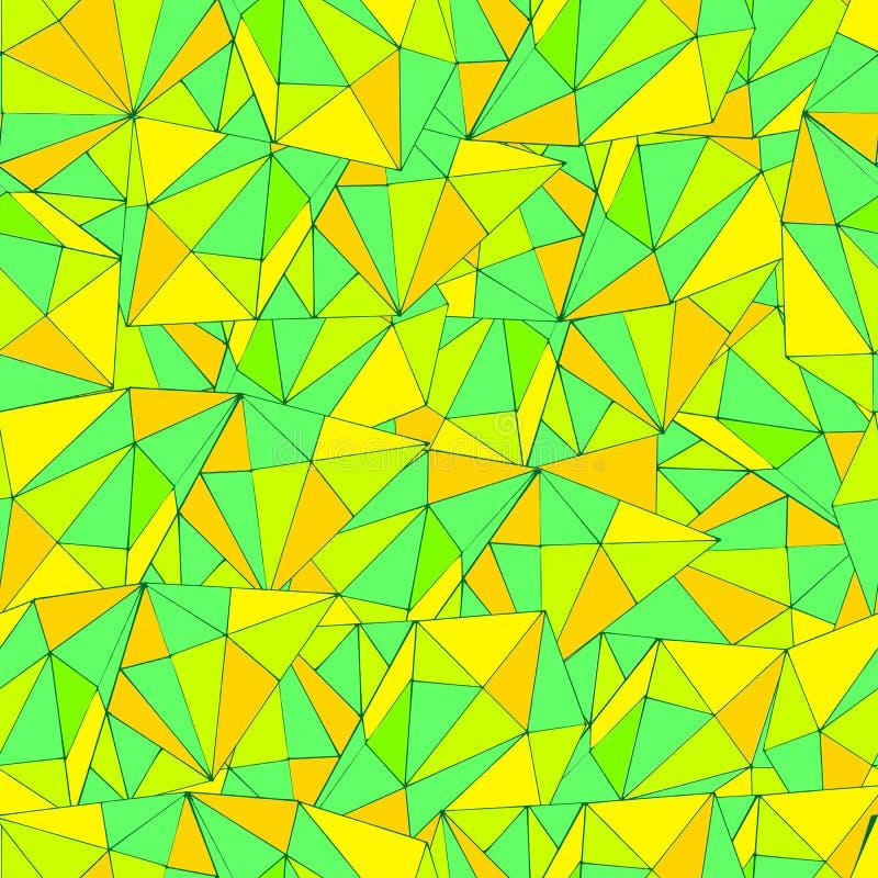 Helder, kleurrijk, abstract patroon, psychedelische naadloze stijl, royalty-vrije illustratie