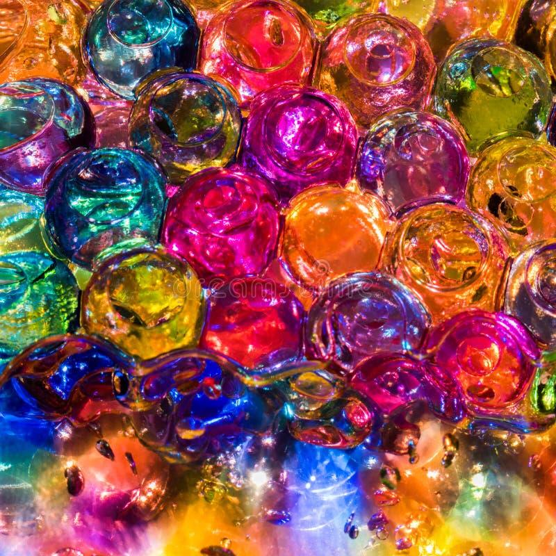 Helder kleurrijk ballenhydrogel royalty-vrije stock foto's