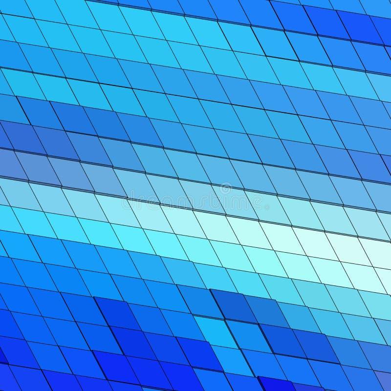 Helder kleurrijk geometrisch beeld blauwe vierkanten - Vektorgrafik Eps 10 vector illustratie