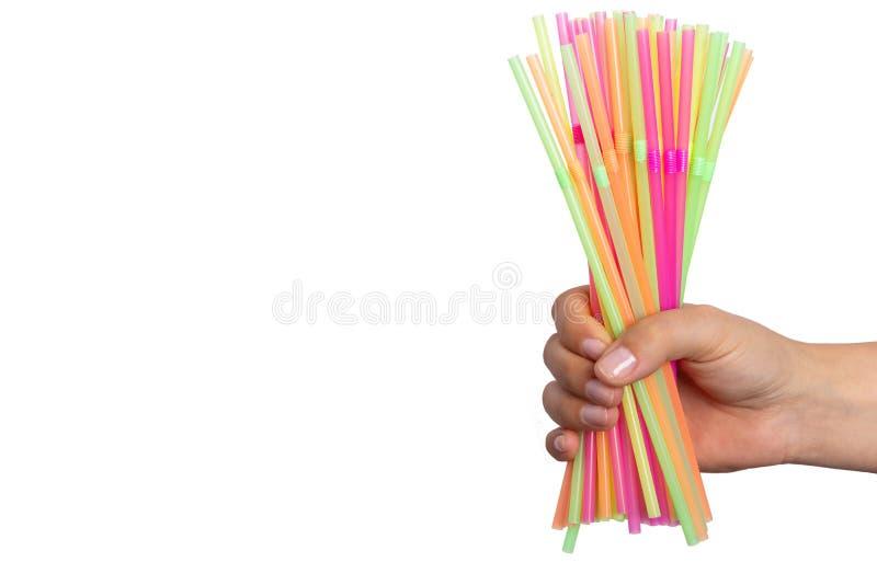 Helder kleurrijk plastic het patroon artistiek ontwerp van de strolijn stock fotografie
