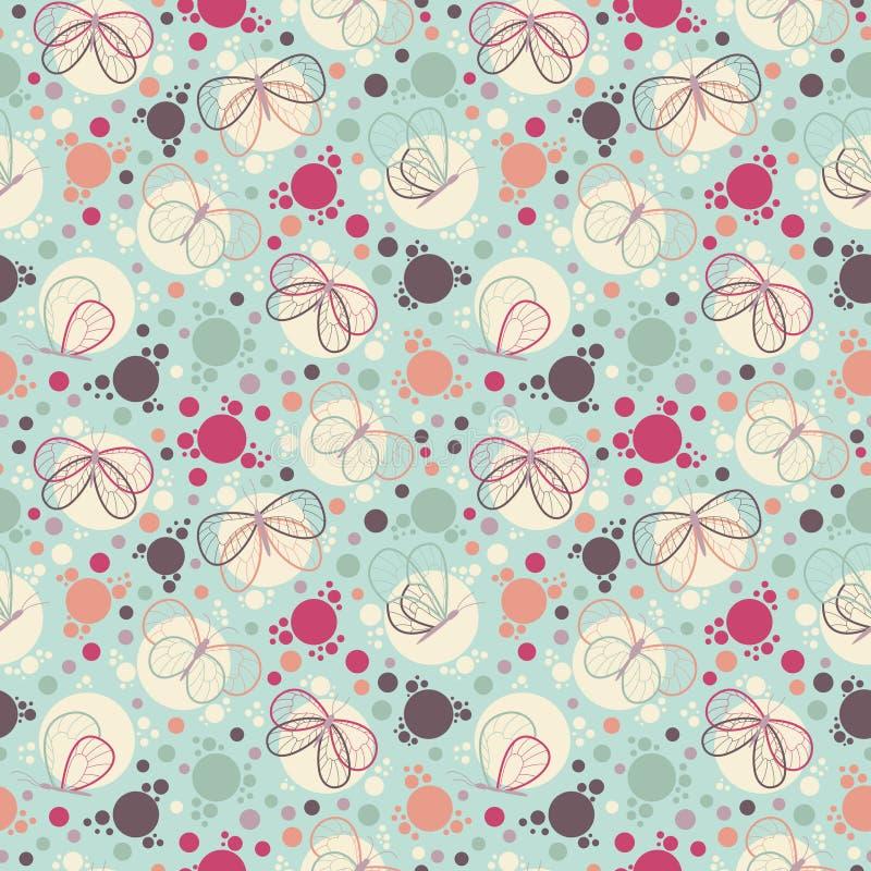 Helder kleurrijk vlinders naadloos patroon vector illustratie