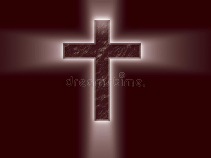 Helder Kruis met lichte stralen royalty-vrije illustratie