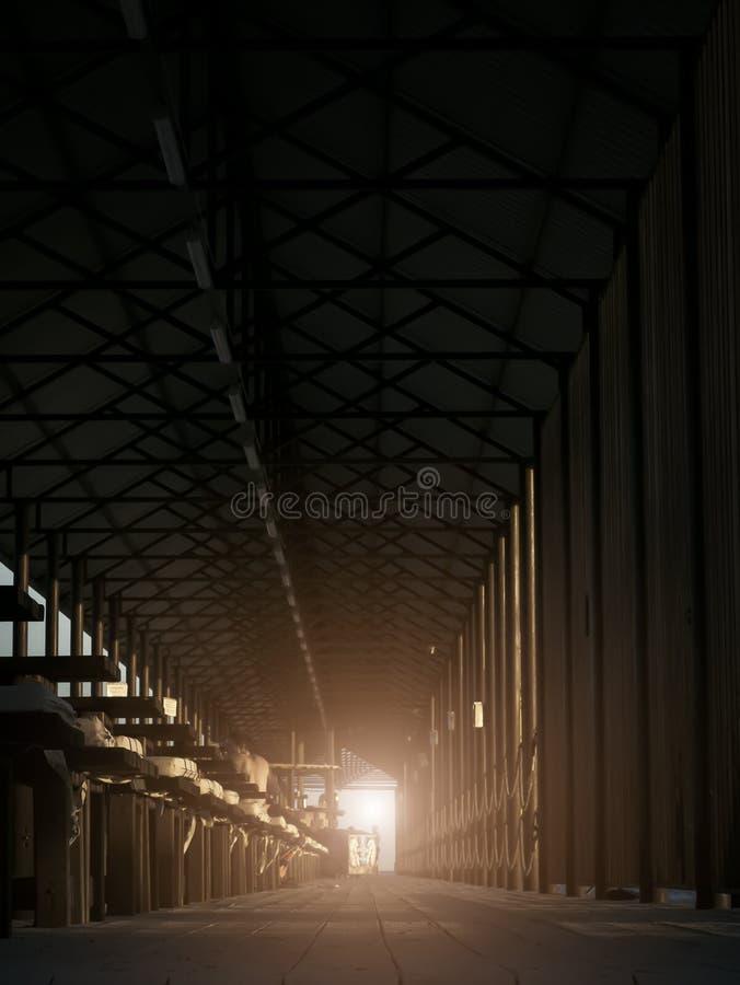 Helder Licht aan het eind van stock foto's