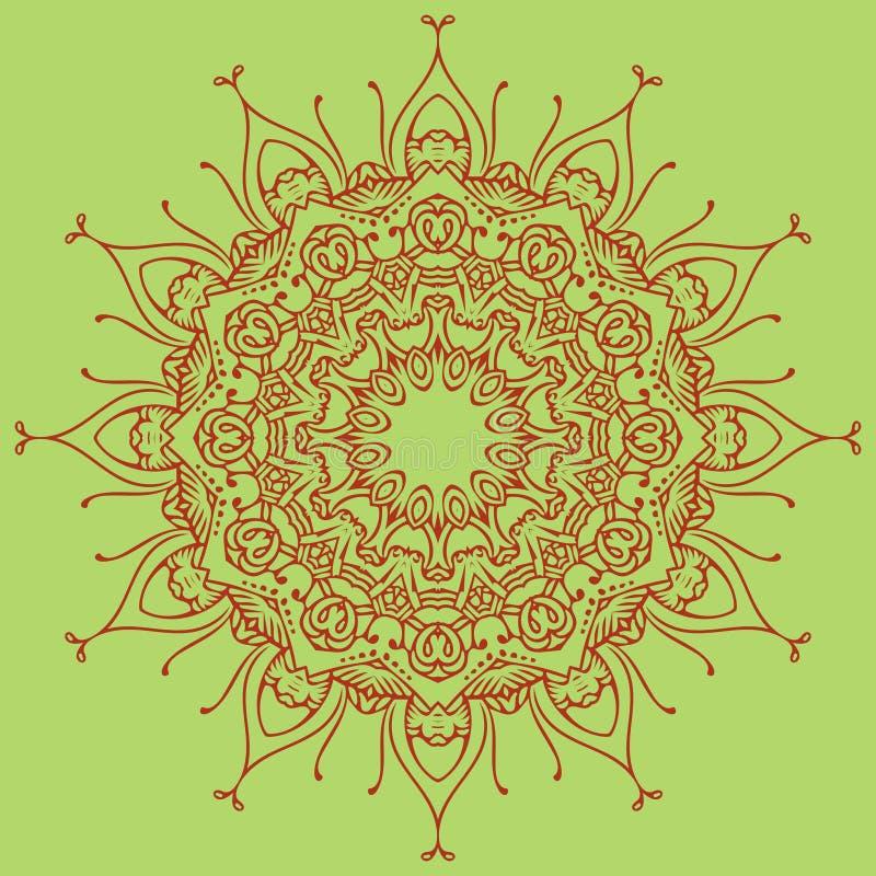Helder mandalaelement voor uw eigen ontwerp stock illustratie