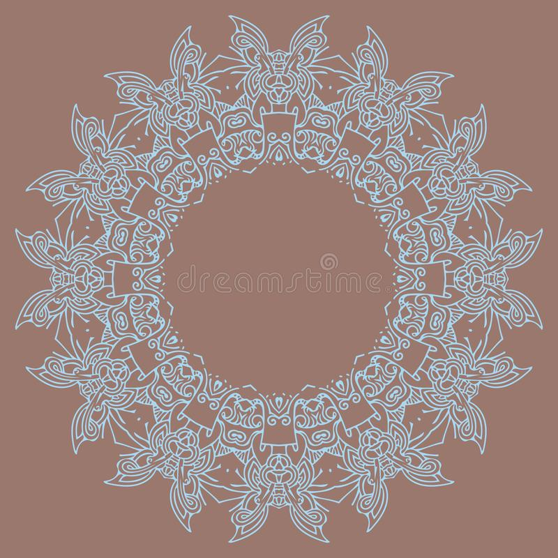 Helder mandalaelement voor uw eigen ontwerp vector illustratie