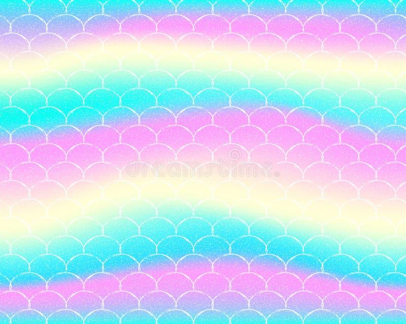 Helder meerminpatroon in prinseskleuren stock illustratie
