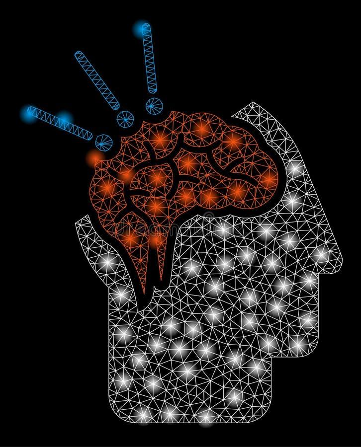 Helder Mesh Carcass Brain Surgery met Gloedvlekken royalty-vrije illustratie