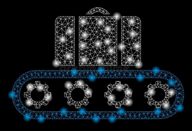 Helder Mesh Network Buggage Conveyor met Flitsvlekken royalty-vrije illustratie