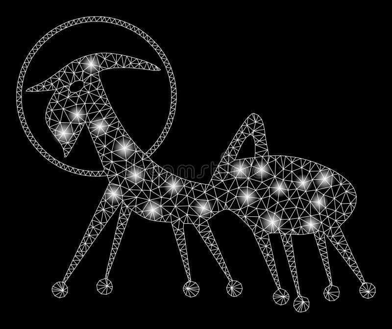 Helder Mesh Wire Frame Creature Skafandr met Lichte Vlekken stock illustratie