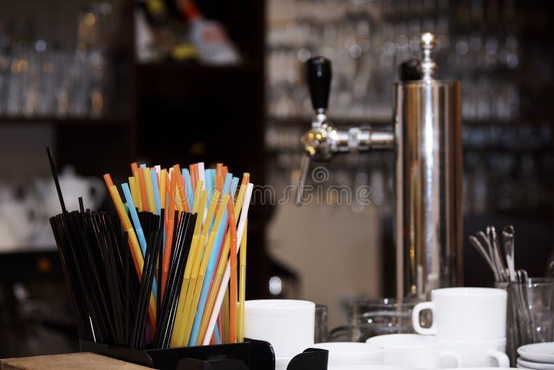 Helder multicolored stro royalty-vrije stock fotografie