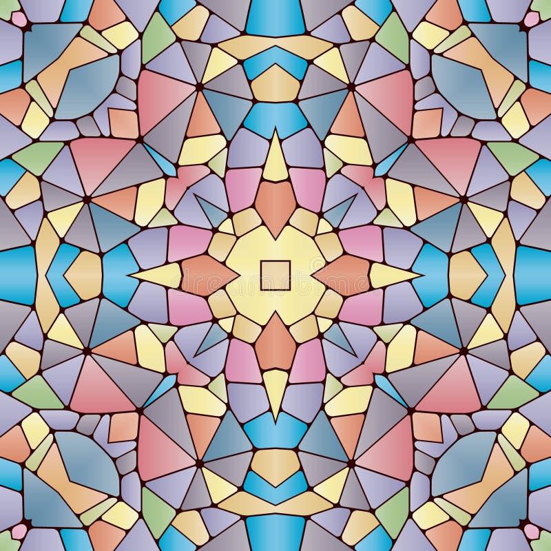 Helder naadloos abstract patroon, caleidoscoop stock illustratie