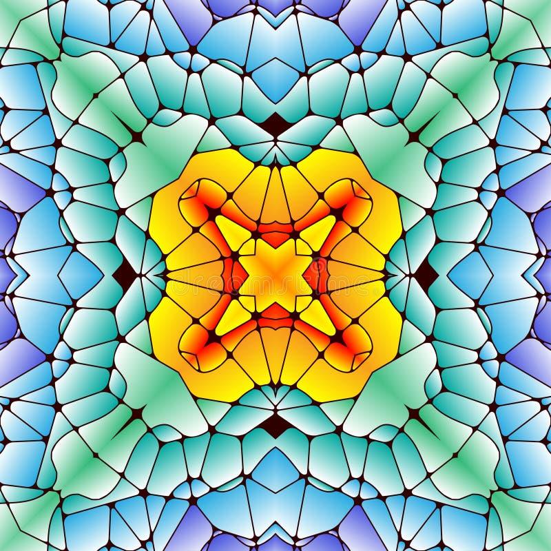 Helder naadloos abstract patroon, caleidoscoop royalty-vrije illustratie
