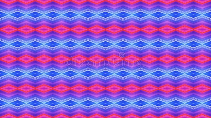Helder naadloos geometrisch ornament van rode en blauwe diamonds_ stock afbeelding