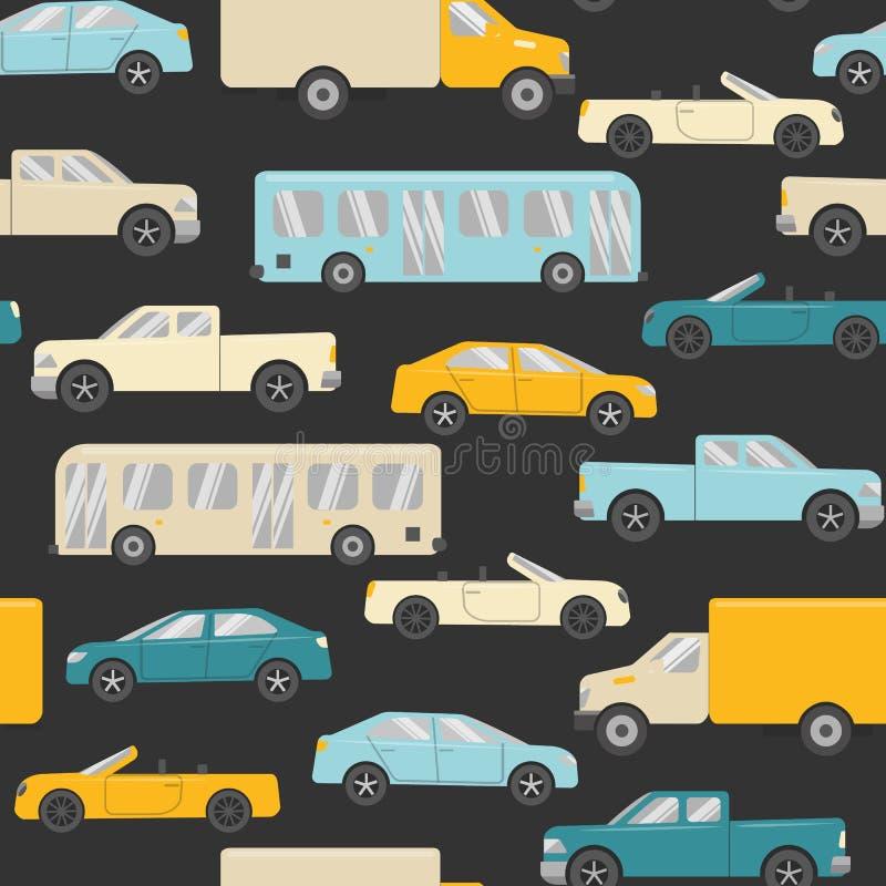 Helder naadloos patroon met auto's vector illustratie