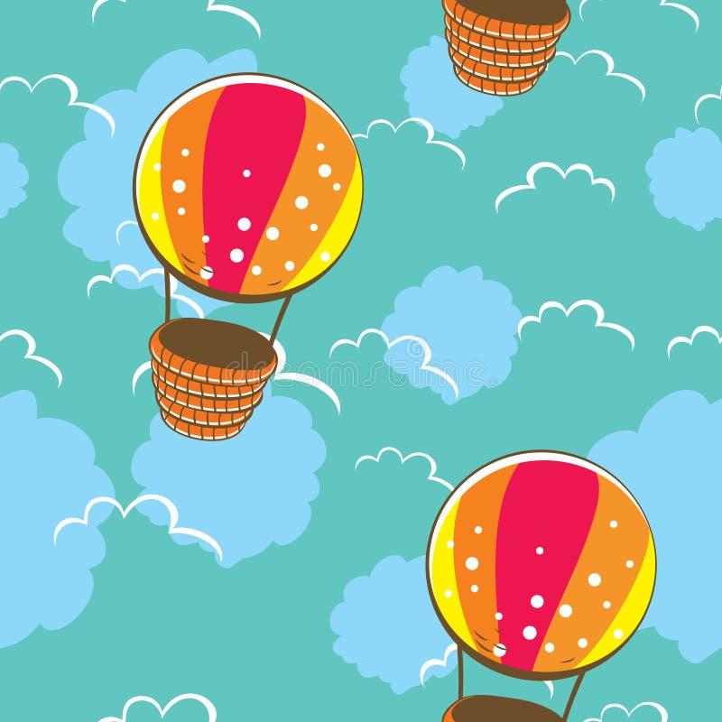 Helder naadloos patroon met kleurrijke ballons royalty-vrije illustratie