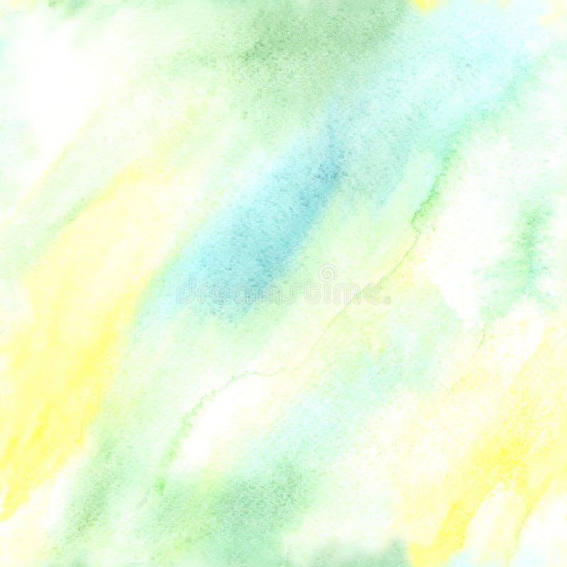 Helder Naadloos Waterverf Abstract Patroon royalty-vrije illustratie
