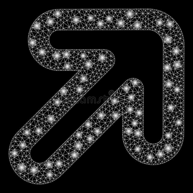 Helder Netwerk tweede juist-op Pijl met Lichte Vlekken royalty-vrije illustratie