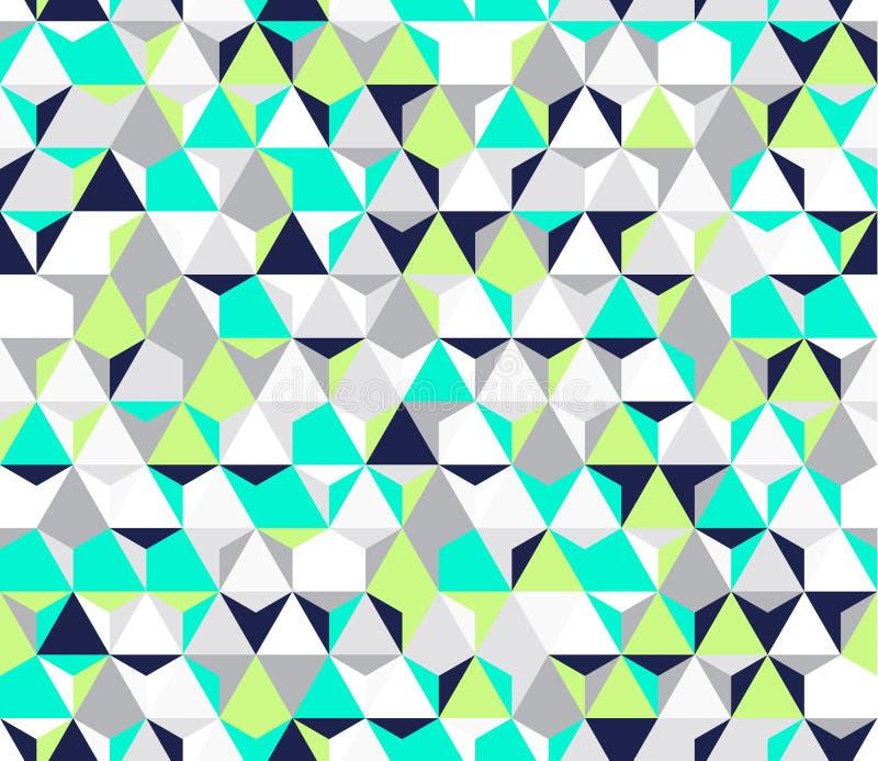 Helder onregelmatig vector abstract geometrisch naadloos patroon met zeshoeken vector illustratie