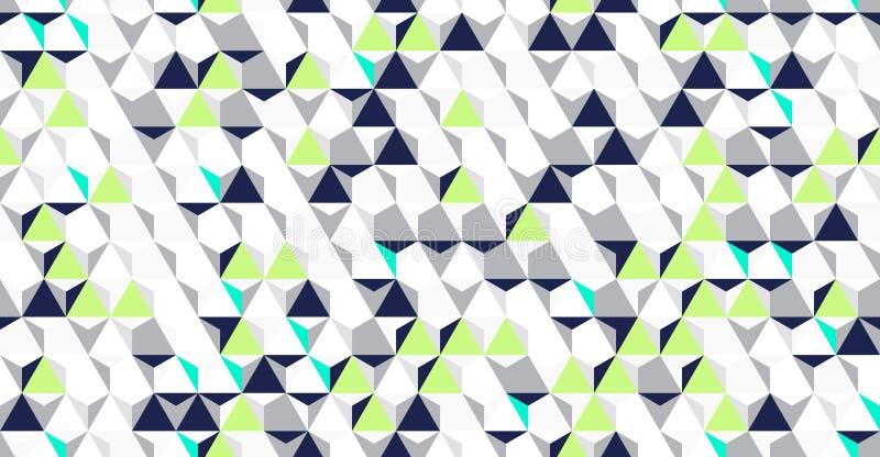 Helder onregelmatig vector abstract geometrisch naadloos patroon met zeshoeken stock illustratie
