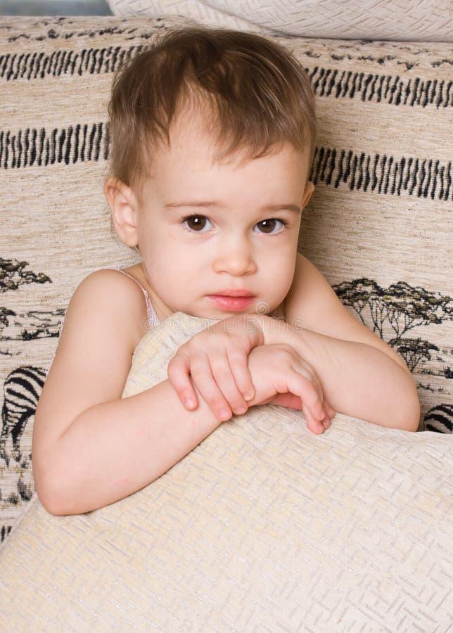 Helder portret van aanbiddelijke baby royalty-vrije stock fotografie