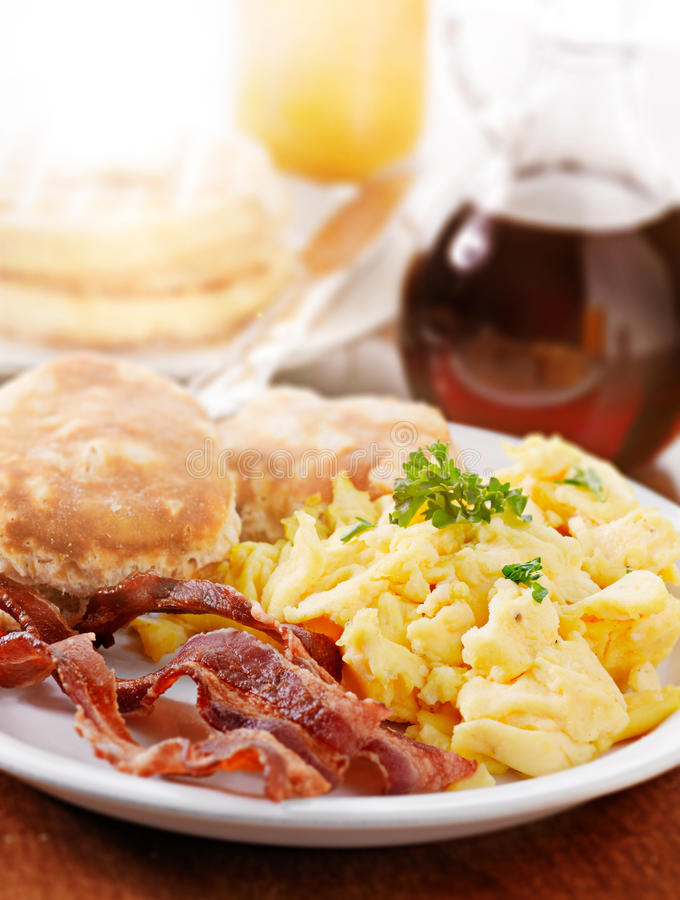 Helder reusachtig ontbijt stock foto