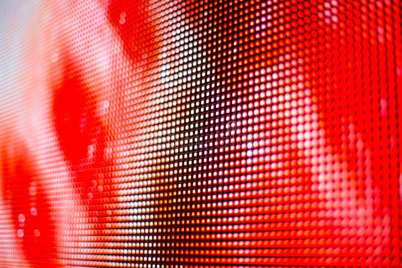 Helder rood met het witte punten smd LEIDENE scherm royalty-vrije stock foto's