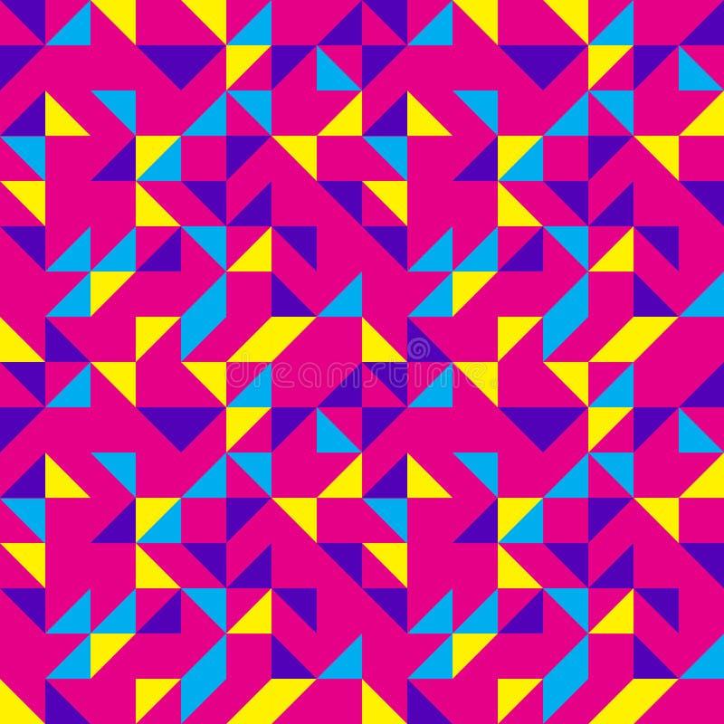 Helder Roze Pop Patroon royalty-vrije illustratie