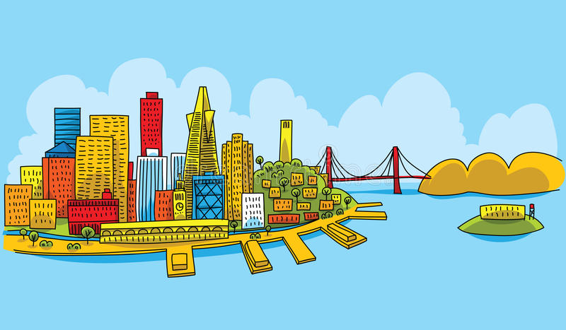 Helder San Francisco stock illustratie