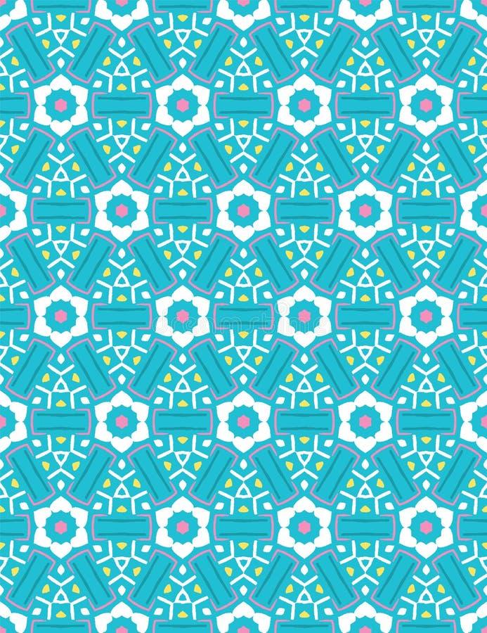 Helder van de de bloembloei van het de zomermadeliefje naadloos vectprpatroon Gestileerde geometrische bloemen drukt overal Mooie stock illustratie