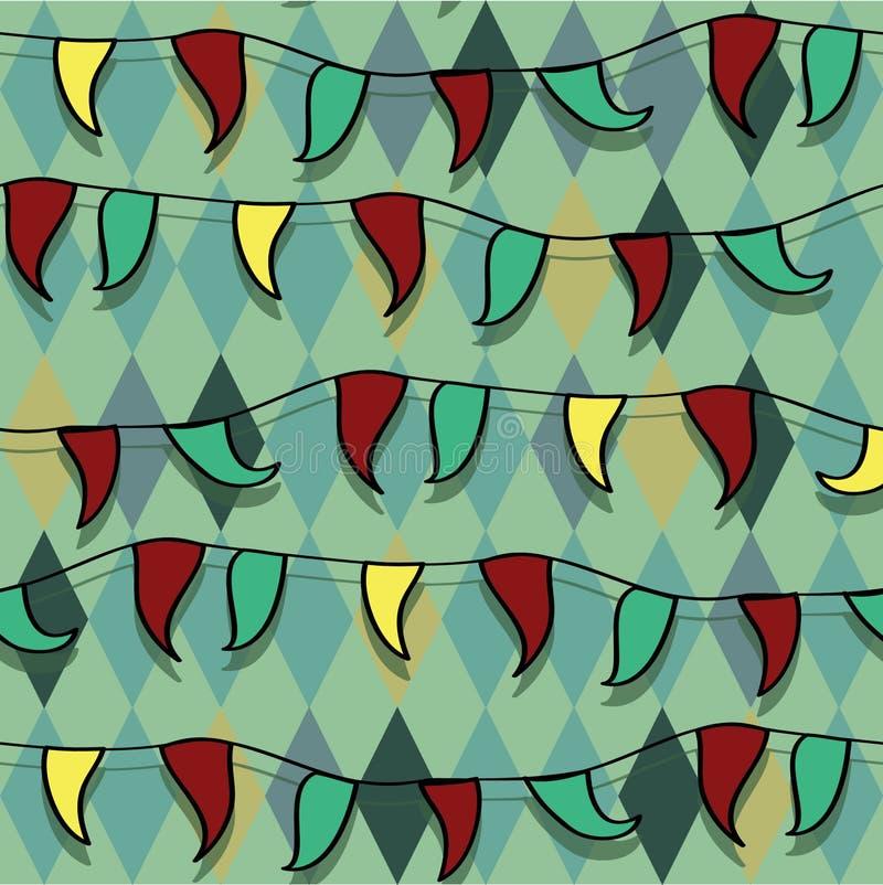 Helder vectorcircus naadloos ornament vector illustratie